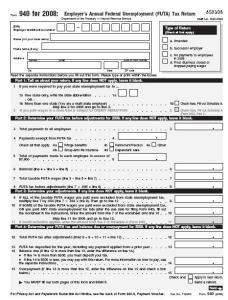 IRS 940 Form